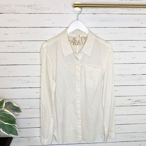 7 For All Mankind White Cotton Button Down Shirt